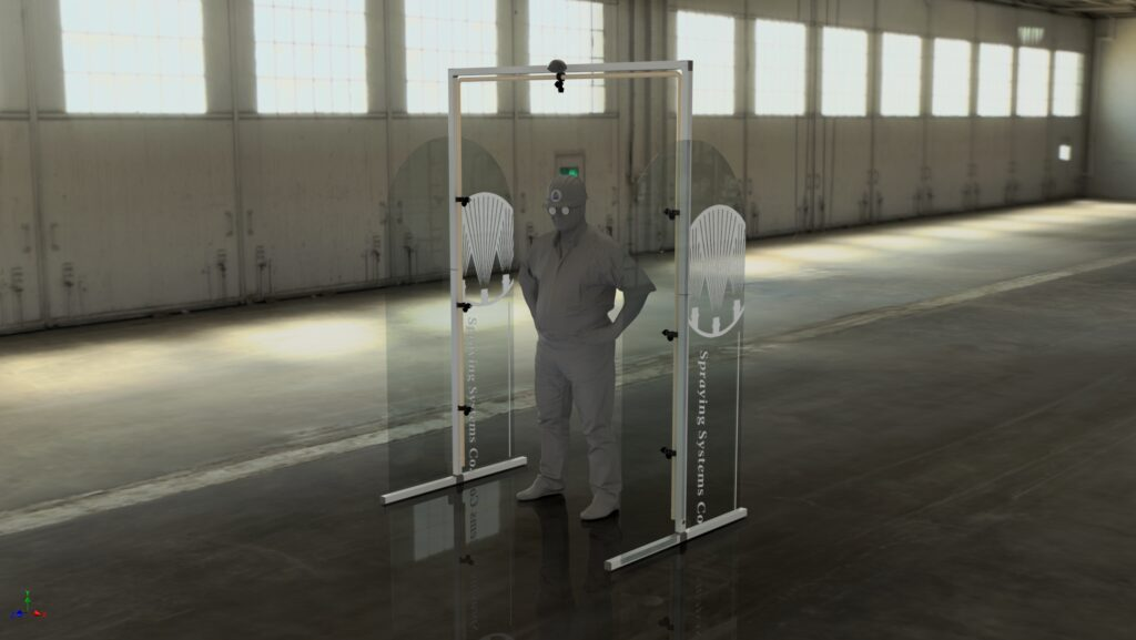 SprayGate for personal disinfection and sanitization